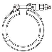 JV 7A 3CV band clamp with 3 segments